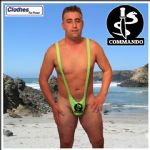 Mankini Thong - Commando Logo